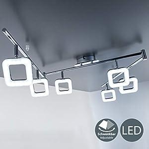 LED Deckenleuchte I 6 flammige Deckenlampe 6x 4W I dreh- & schwenkbar I eckige Platinen I Deckenstrahler I IP20