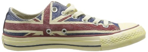 Converse, All Star OX Canvas Graphics, Sneaker, Unisex - adulto UK Flag Distressed