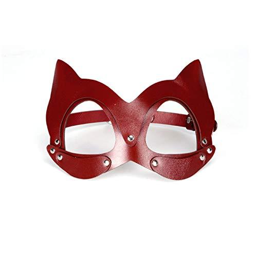 Maskerade Party Maske Cosplay Weihnachten Thema Kreative Mode Spaß Leder Brillen Schmuck,Red-Onesize