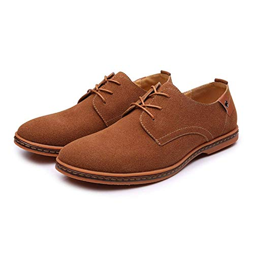 Men s Classic Microfibre Leather Oxford Shoes Lace up(brown44) 013ca75f2b1