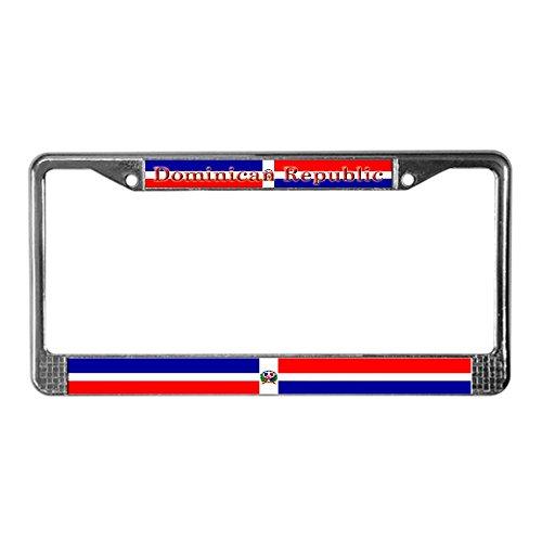 CafePress Lizenz Rahmen-Flagge Dominikanische Republik Nummernschild Rahmen -