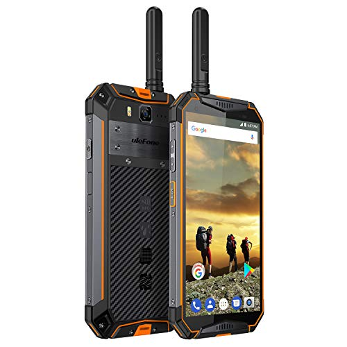 Ulefone Armor 3T Outdoor Smarphone ohne Vertrag mit Walkie-Talkie Funktion, 10300mAh Schnellladung IP69K Handy Wasserdicht, Global 4G Dual SIM Android 8.1, 4GB + 64GB, 21MP+13MP Kamera Orange