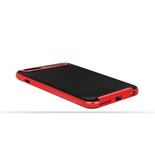 OKCS® Coque - Apple iPhone 6 Plus, 6s Plus Etui Housse de Protection Armor Case Protector Cover Bumper - Argent Rouge