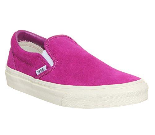 Vans U Classic Slip-on Overwashed, Unisex-Erwachsene Sneakers Fuschia Vintage Suede