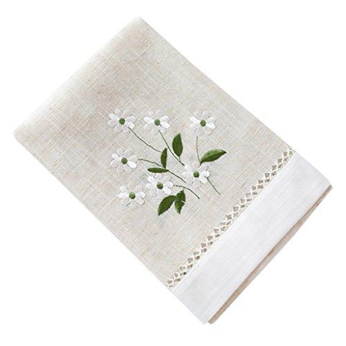 CJH Frische Tischfahne Tuch Moderne Einfache Wohnzimmer Tisch Flagge Nordic Couchtisch Dekorative Tuch Streifen Plain Elegante Weiß