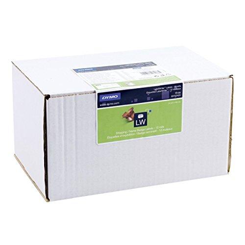 Dymo S0722420 LabelWriter-Versandetiketten/Etiketten für Namensschilder (54mmx101mm, 12er Pack à 220Etiketten, schwarzer Druck auf weißem Untergrund) (Drucke 12k)