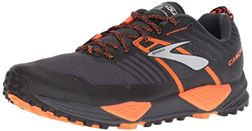 Brooks Cascadia 13, Zapatillas de Cross para Hombre, (Grey/Black/Orange 026), 46 EU