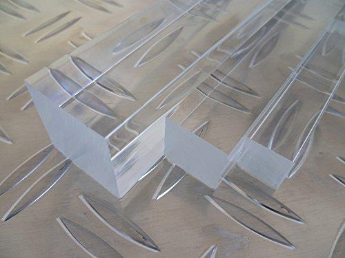 Metall-stab (B&T Metall PMMA Acrylglas Vierkant Stab 15 x 15 mm, Länge ca. 50 cm   Acrylglas Stange poliert, massiv, transparent & UV-beständig   Acryl-Stab in verschiedenen Maßen & Längen)