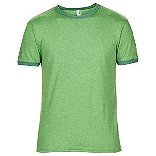 Anvil Herren Modern T-Shirt Heather Green/ Kelly Green