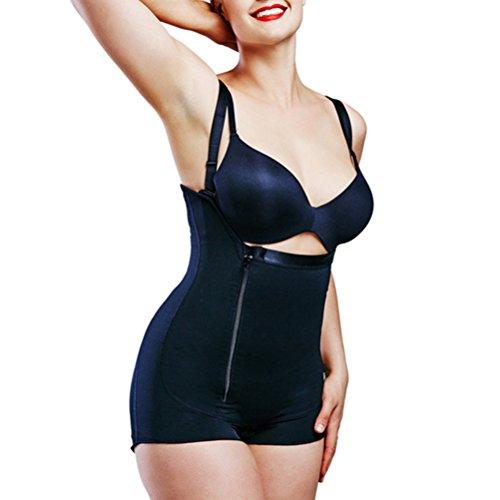 Zhhlaixing Shapewear Donna,Traspirante Corpo Women's Control Abdomen Corset Butt Lifter Body Sculpting Slimming Bodysuit Firm Black