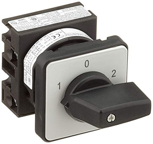 Eaton 012742 Umschalter, Kontakte: 2, 20 A, Frontschild: 1-0-2, 60 Grad, Rastend, Einbau
