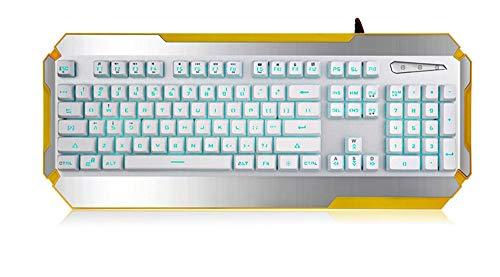 Hintergrundbeleuchtete Spieletastatur Bunte Hintergrundbeleuchtete Spieletastatur-USB-Schnittstelle Cyber   Verdrahtete Tischrechner Der Mechanischen Haupttastatur -