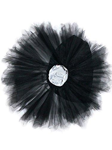 Camilady Damen Mädchen Tutu Rock Asymmetrisch Kurz Tüllrock Tütü Tanzrock für Cosplay Party Abschlussball Karneval Minirock Pettiskirt - - Für Mädchen Punk-rock-halloween-kostüm