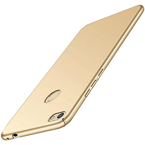 Carcasa Huawei P8 Lite (2017 series) ,Qissy® Todo incluido Anti-Scratch Anti-huella dactilar a prueba de choque Suave Protective Case Cover Skin para Huawei P8 Lite 2017 series (Oro)