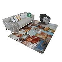Wghz Modern rug, computer desk chair mat, computer desk chair, bedroom, retro, non-slip, retro, creative, retro, non-slip, industrial computer desk (size: 180 * 280cm) (size: 180 * 280cm): 140 *