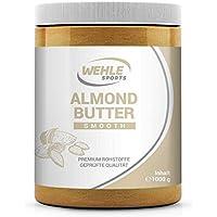 Mandelbutter 1kg – Premium Mandelmus – Wehle Sports Almond Butter natürliches Nussmus veganer/vegetarischer Brotaufstrich für Smoothies, Backen, Snack (Smooth, 1kg)