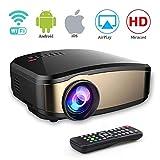 Mini-Beamer Kabelloser HD-Filmprojektor Mit HDMI-USB-Kopfhöreranschluss Geeignet für Heimkino Spielunterhaltung
