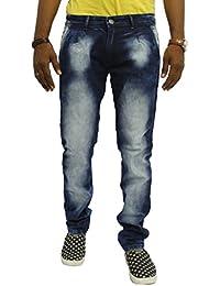 JUGEND Blue Stretchable Washed Regular Fit Jeans for Men (36)