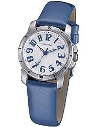 Reloj TIME FORCE de niña/señora. Acero. Correa de piel azul charol. TF-4064L03
