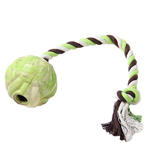 Pet harem- Haustier-Hundemolarzahn-Baumwollseil-Ball-Beißen-Gummi, das wechselwirkenden Spielzeug-Ball bildet ( größe : Xs )