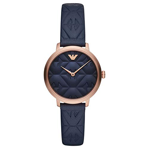 Emporio Armani Damen Analog Quarz Uhr mit Leder Armband AR11231