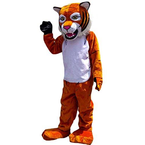 Langteng orange Tiger-Mascot Kostüm mit Bild, 15-20days-Marke (Tiger Maskottchen Kostüm)