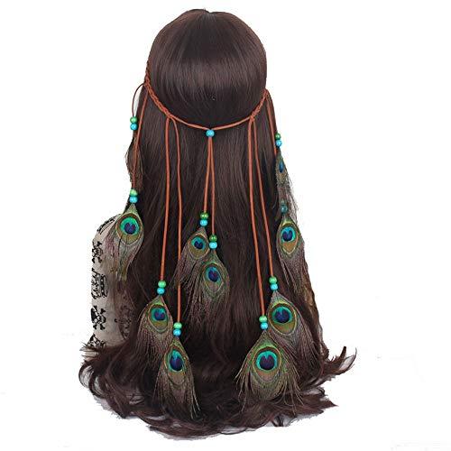 Lisansang Damen Blume Stirnband Hippie Headpiece Bohemia Haarschmuck für Masquerade Fancy Tribal Indian Damen Krone Blume, Damen Hochzeit Kranz, Blume Kro