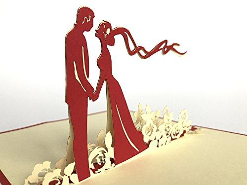 Happy Wedding 3D Pop up Grußkarten Jahrestag Baby Geburtstag Ostern Halloween Mutter Vater New Home NEW YEAR Thanksgiving Valentine Hochzeit Weihnachten (3d Happy Halloween)