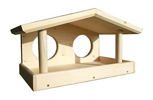 Design Vogelhaus, Vogelfutterhaus, Vogelhäuschen zum bemalen, Holz, Handarbeit, 36x20x20, Schreinerqualität