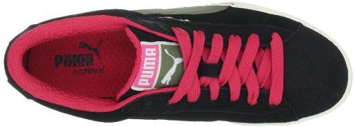 Puma S Low City 353850 Herren Sneaker Schwarz (black-burnt olive-teaberry 02)