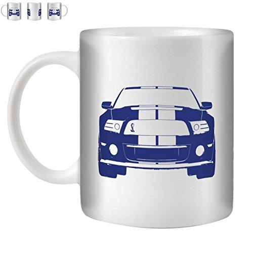stuff4-taza-de-cafe-te-350ml-azul-mustang-gt500-ceramica-blanca-st10