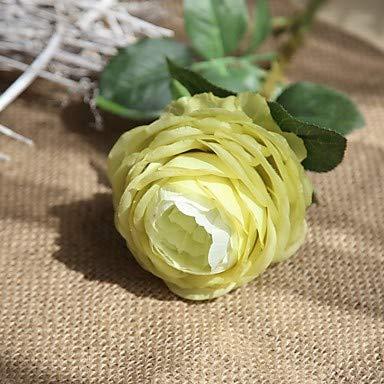 Xqi wangpu Künstliche Blumen 5 Niederlassung, die europäische Rosen-Tischplatte-Blume, hellgrün feiert - Kopf-tisch-mittelstücke