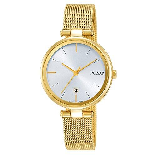 Seiko Pulsar Reloj Mujer Acero Milanais Dorado ph7462X 1línea Attitude