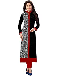 Women's Top & Tunic Latest New Style Ethnic Wear Collection Todays Best Deal Offer All Type Modern Cotton Black...