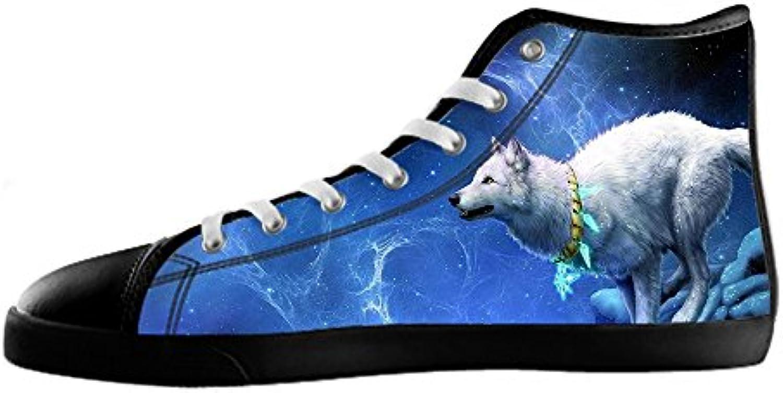 Custom Custom Custom Lupo e luna Men's Canvas scarpe I lacci delle scarpe in Alto sopra le scarpe da ginnastica di scarpe scarpe... | Stile elegante  0142d2