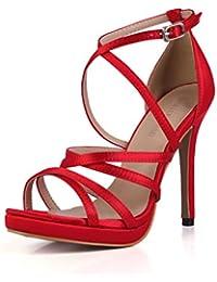 varios estilos buena calidad estilo popular Amazon.es: Zapatos Rojos De Fiesta - Sandalias de vestir ...