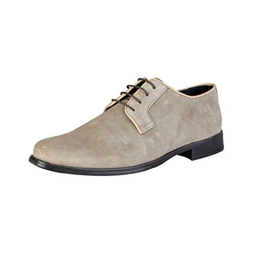 PIERRE CARDIN ALBERIC Derby Chaussures De Ville À Lacets Homme Taupe