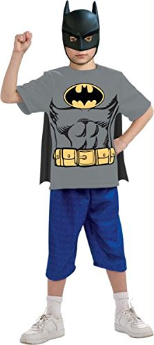 Batman Child Shirt Mask Cape L
