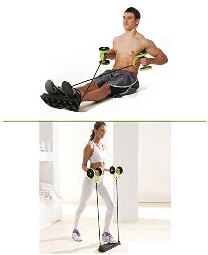 Vinteky® Rodillo para abdominales hipopresivos, rueda de aerobic, AB roller, rueda con alfombrilla para las rodillas para fitness Para Flexiones, trabajar los músculos del abdomen/los hombros/los muslos de manera eficiente.