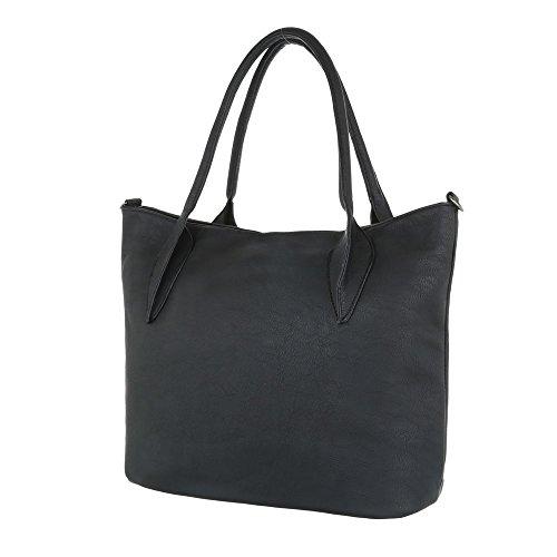 Taschen Used Optik Handtasche Schwarz