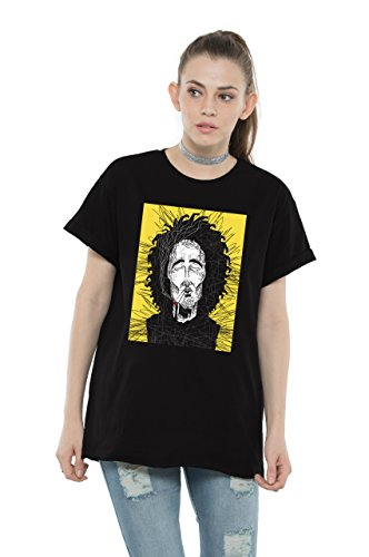 Bewakoof Womens Cotton Printed Boyfriend T-Shirts_Black _X-Small _136605