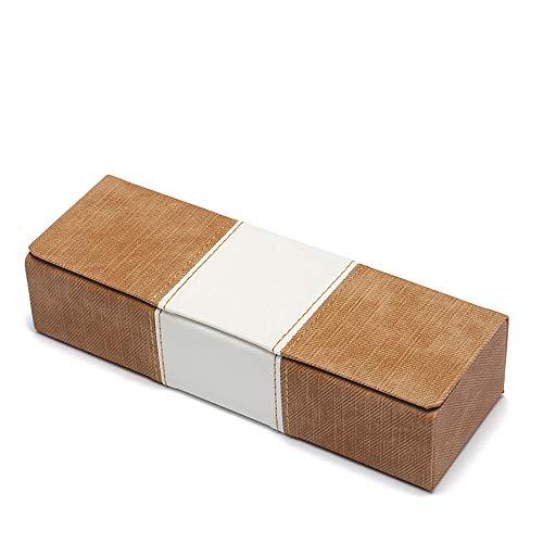 WooCo Magnetische Flip Cover Brillen Fall, Neu Weißer Streifen Quadrat PU Leder Sonnenbrille Box...