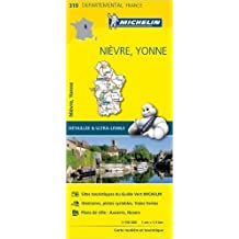 Carte Nièvre, Yonne Michelin de Collectif Michelin ( 1 avril 2015 )