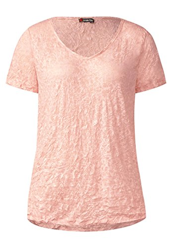 2030002bdadc82 Street One Damen Ausbrenner V-Neck Shirt studio rose (rosa)