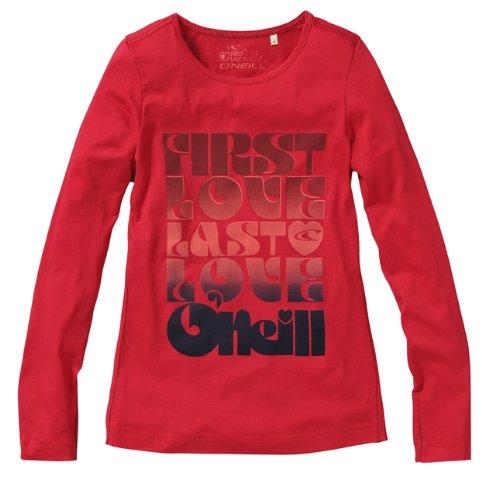 O'Neill LW Kiku-T-Shirt-Femme-L, Bleu (Bleu vif) Rouge - Rouge