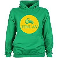 Kids Tractor Hoodie Personalised Deere Farm Farmer Name Design T-shirt Tee Shirt Custom Gift Choose Colours Birthday Childrens Toddler