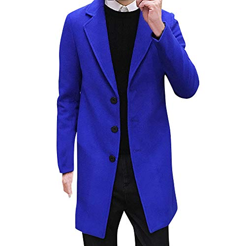 UFACE Lange Herren Jacken Formal Elegant Winter Wolle Herbst Nner Einreiher Outwear,Männer Figuring Mantel Lange Wolle Jacke Charme Outwear Stilvolle Mantel