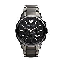 Emporio Armani Dress Watch Analog Display Quartz for Men Black AR2453 Standard