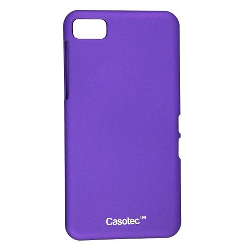 Casotec Ultra Slim Hard Shell Back Case Cover w/ Screen Protector for BlackBerry Z10 - Purple  available at amazon for Rs.125