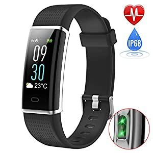 iposible Fitness Tracker with Heart Rate Monitor, Colour Screen Activity Tracker Fitness Watch Waterproof IP68 Smart Bracelet Sleep Monitor Pedometer Watch for Women Men Kids (24-Month Warranty)
